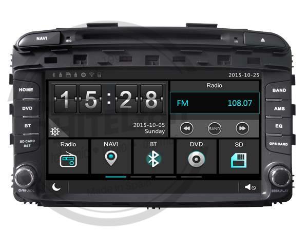 "En DHITELfon, Sistema de Navegación / Radio Gps 9"" para Kia Sorento 2015."