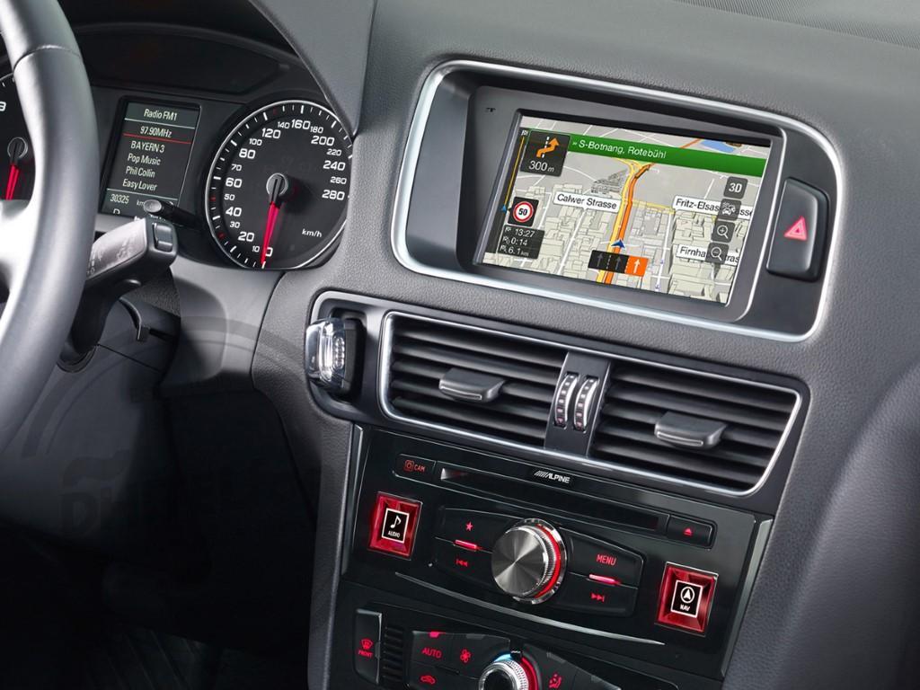 En DHITELfon, Sistema de Navegación / Radio Gps para Audi A4 B8 / Q5.