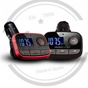 PORTABLE AUDIO MP3/MP4 ENERGY CAR TRANSMITTER F2 RACING RED
