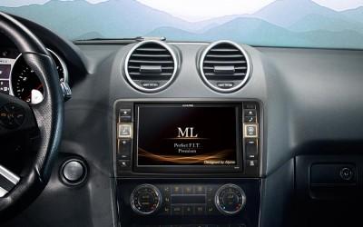En DHITELfon, Sistema Alpine Infotainment Premium para Mercedes-Benz ML