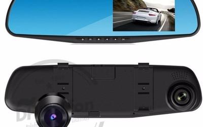 En DHITELfon, Retrovisor con cámara de grabación y de visión trasera