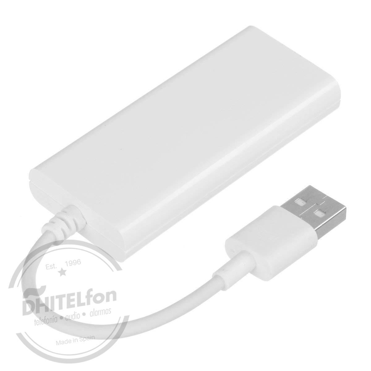 En DHITELfon, Adaptador de receptor de enlace de smartphone USB: deja que tu iPhone y tu teléfono Android funcionen perfectamente con el sistema de audio..