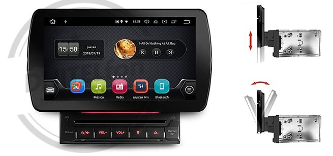"En DHITELfon, Nuevo doble DIN Android con pantalla flotante de 10,1"" de Evus"