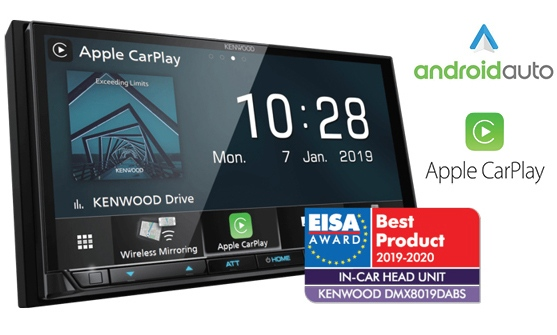 Kenwood DMX8019DABS, premiada como la mejor unidad principal del mercado